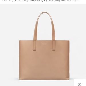 Everlane The Day Market Tote Light Taupe